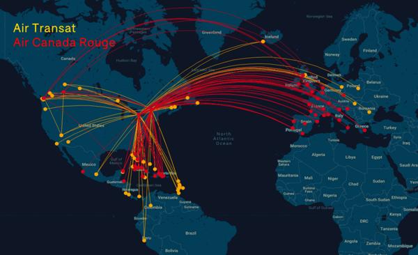 Air Canada Air Transat Network