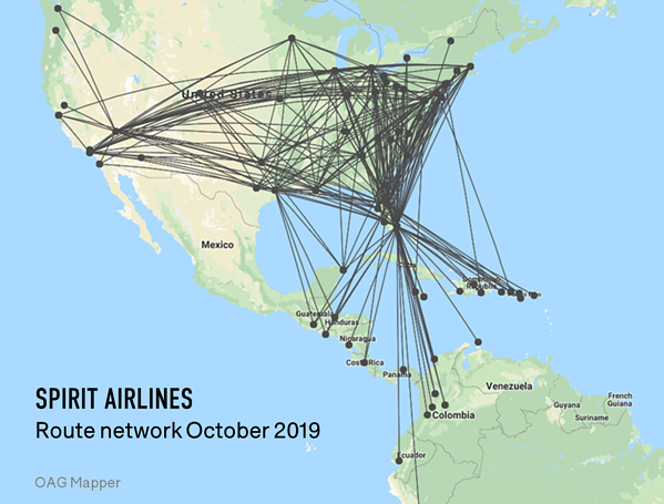 spirit-airlines-route-network-october-2019