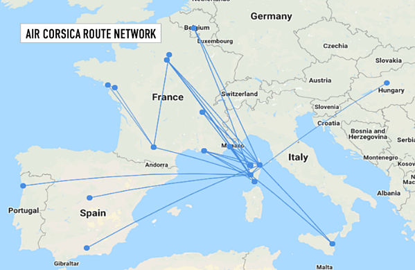 air-corsica-route-network