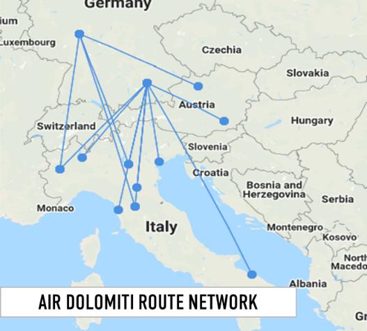 air-dolomiti-route-network