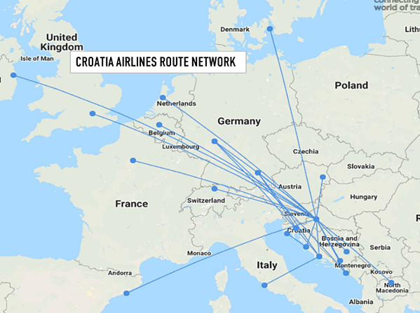 croatia-airlines-route-network