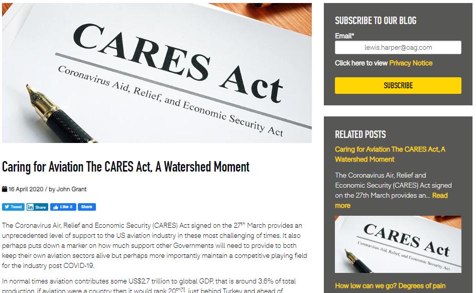 Blog cares act