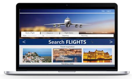 Laptop Flight Bookings